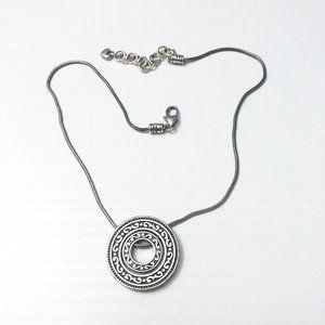 Brighton Central Park Silver Disc Necklace